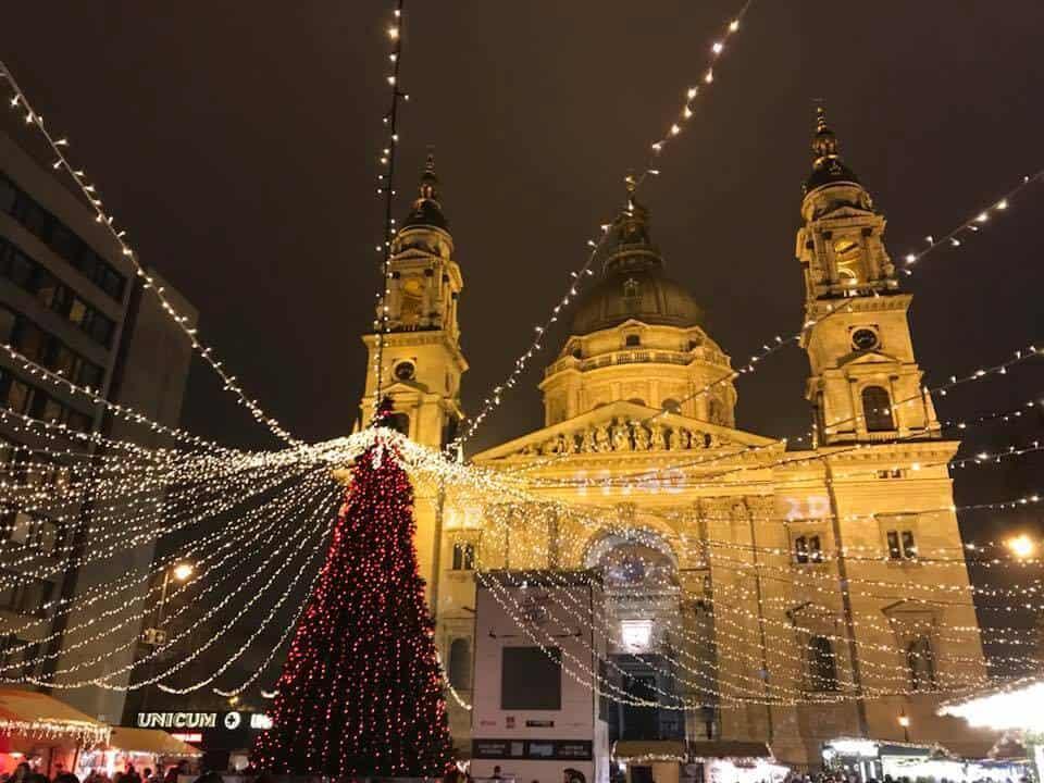 Budapest, Hungary during the Christmas season.