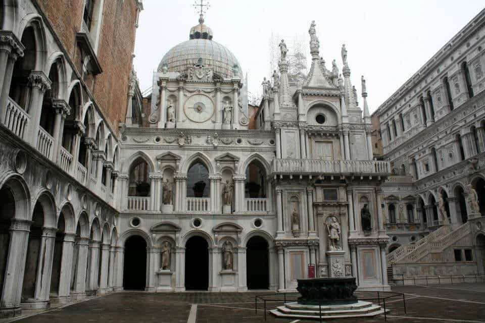 Interior view of Doge's Palace in Venice Italy