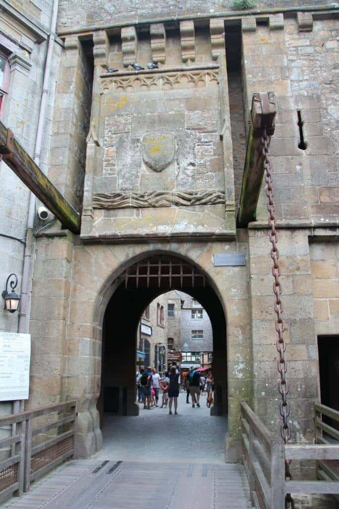 Entrance gate to the town of Mont Saint Michel