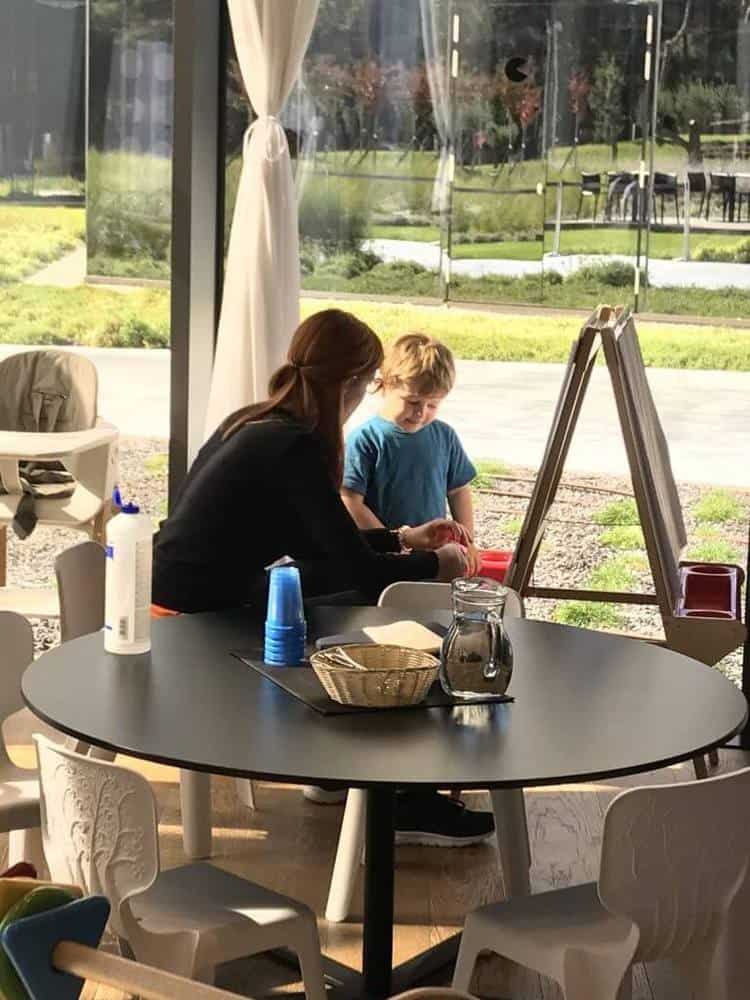 Kids zone in the dining area at the Kinderhotel Family Amarin Hotel, Rovinj, Croatia