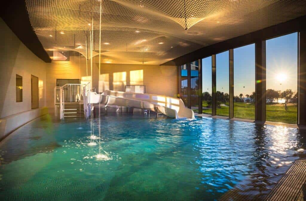 Indoor pool at Kinderhotel Family Amarin Hotel, Rovinj, Croatia