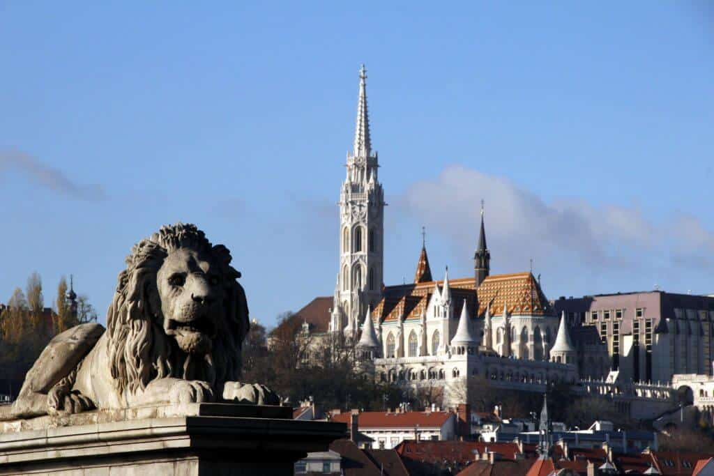 The beauty of the Budapest skyline in hungary.