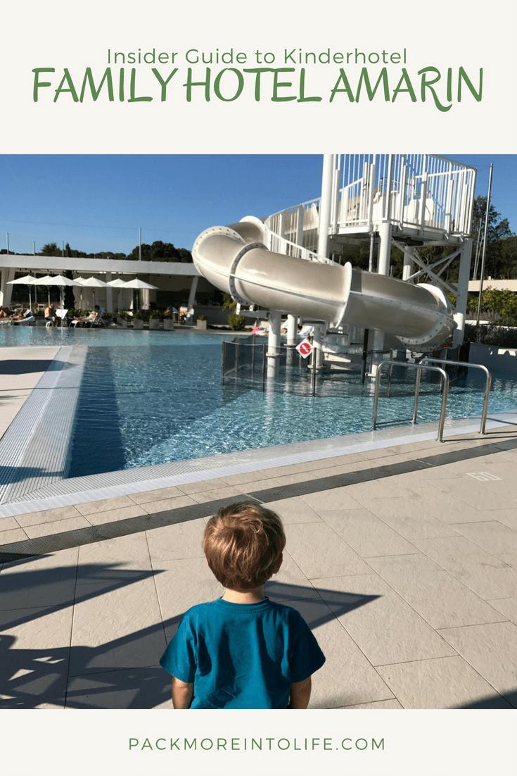 Outdoor pool at Kinderhotel Family Amarin Hotel, Rovinj, Croatia