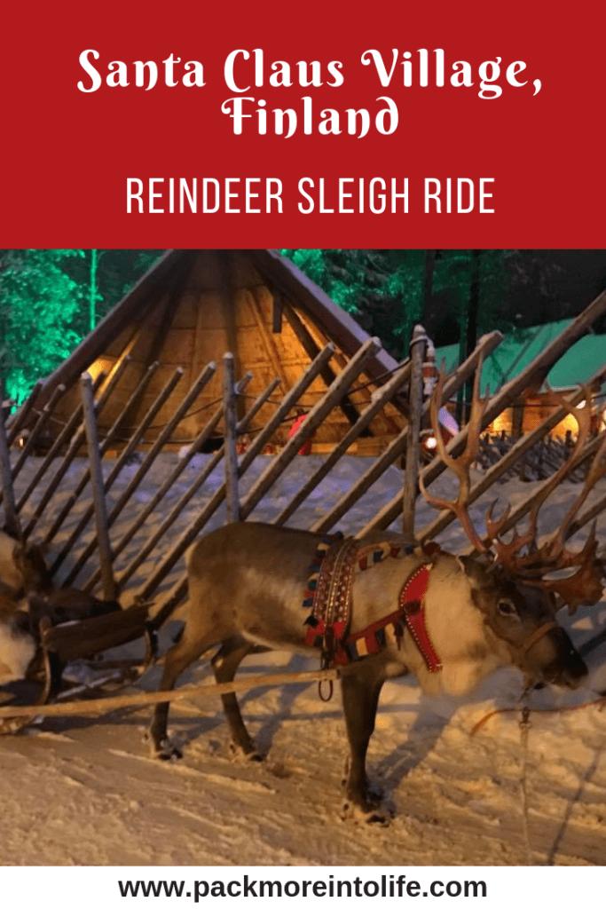 Reindeer Sleigh Ride Lapland, Finland