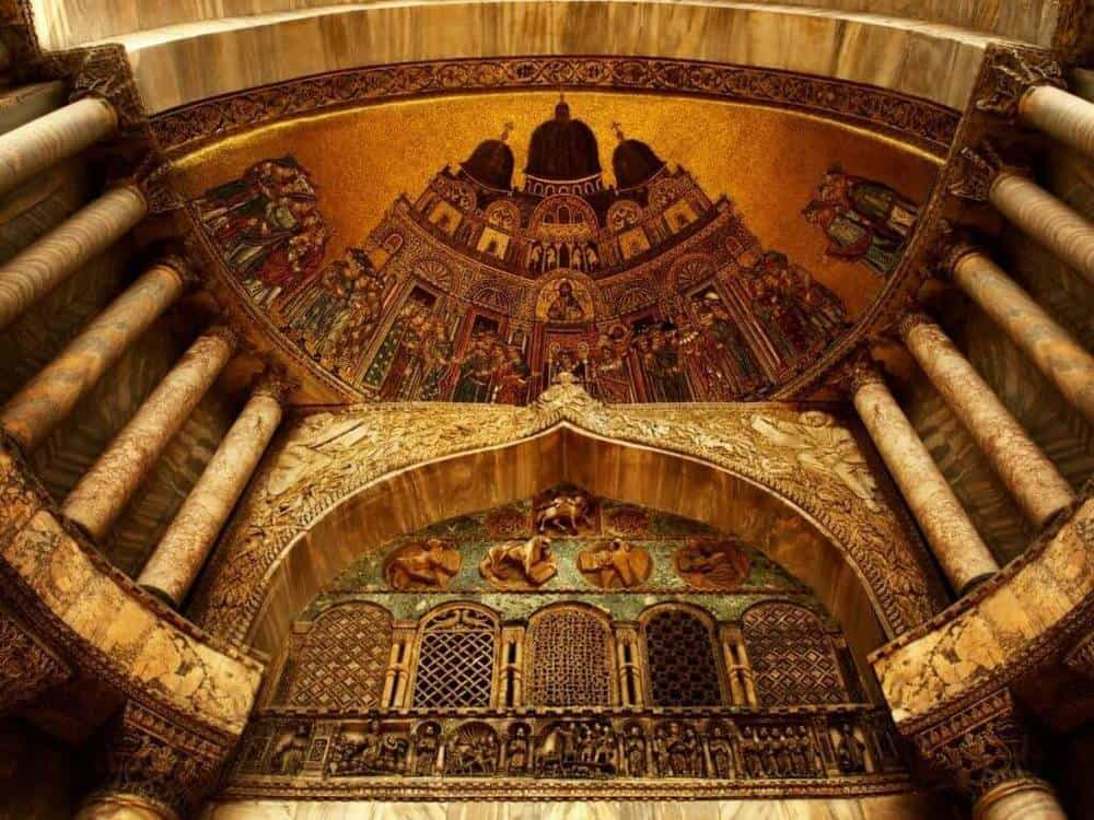 Gold leaf inside Saint Mark's Basilica