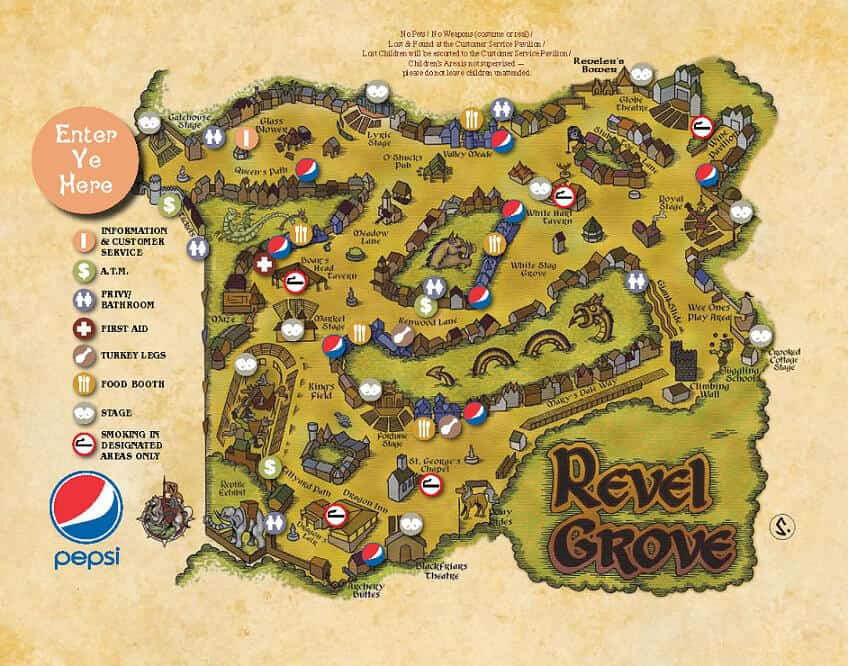maryland renaissance festival Map