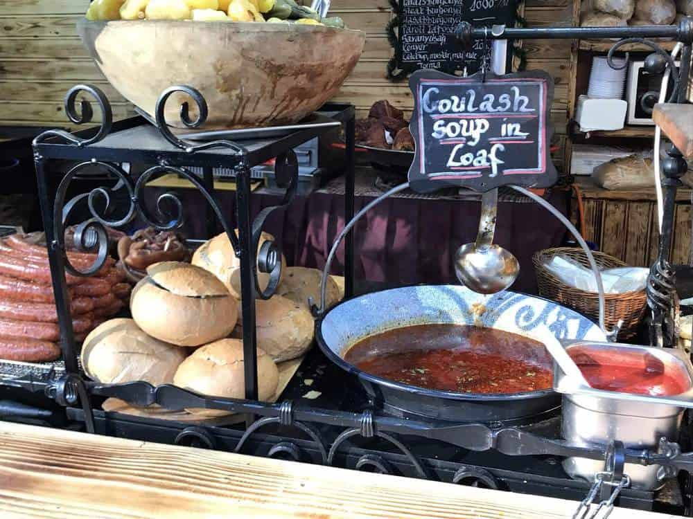goulash soup (GULYÁSLEVES) in Budapest Christmas Markets