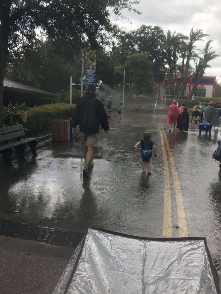 Raining at LEGOLAND Florida