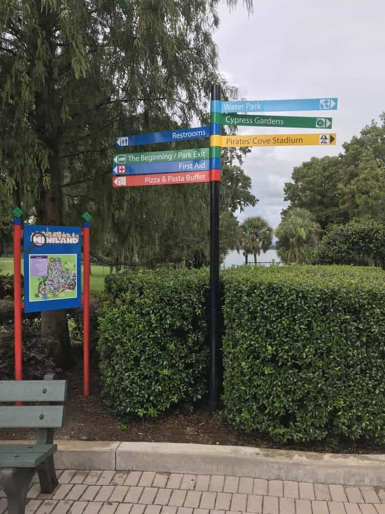Signs in Legoland, Florida