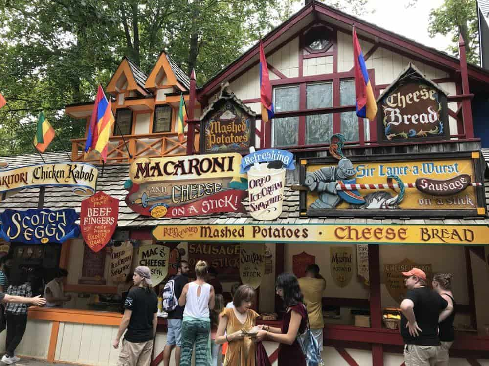 maryland renaissance festival food options