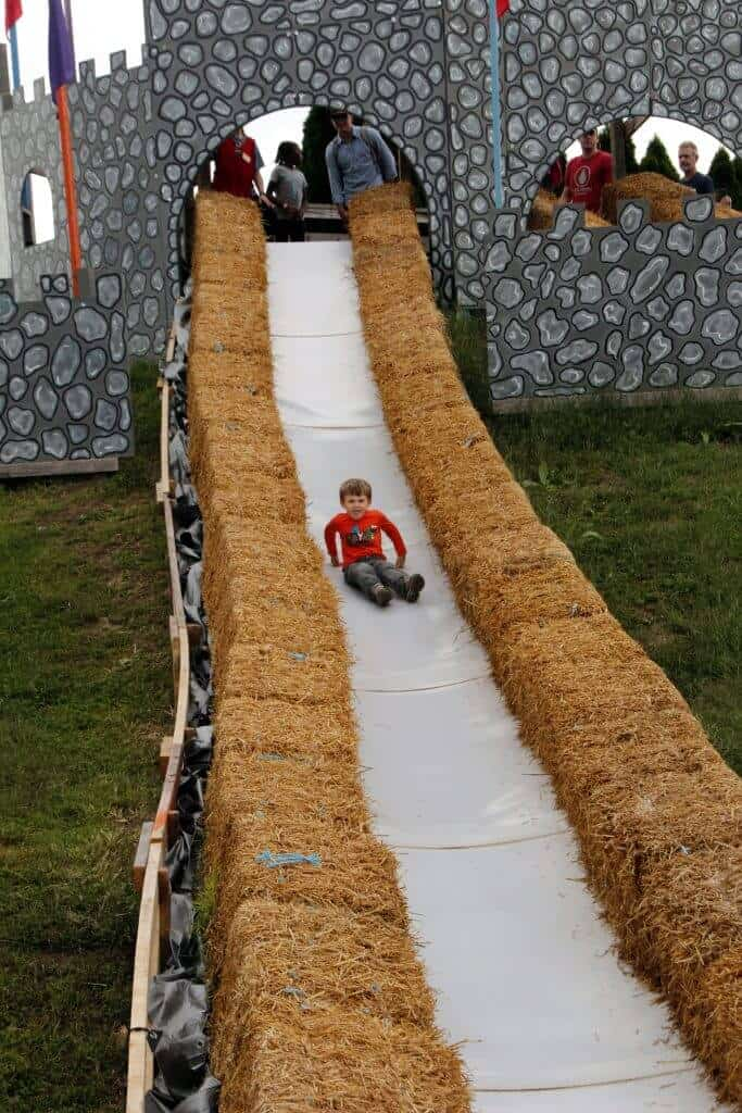 Cox Farms Castle Slide