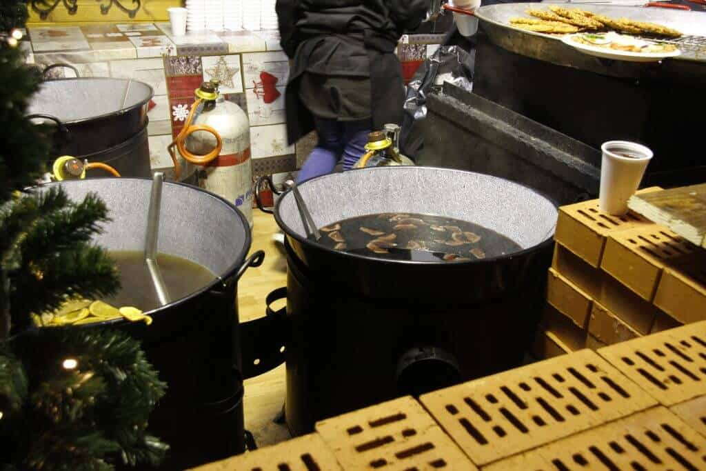 gluhwein in the Budapest Christmas Markets