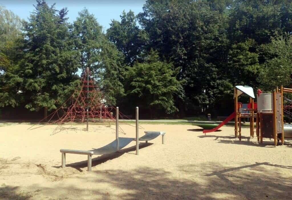 Stadt Park across from the Pullman Hotel in Stuttgart, Germany