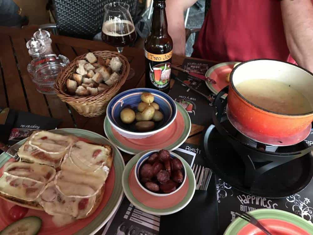 Fondue at Restaurant Memory