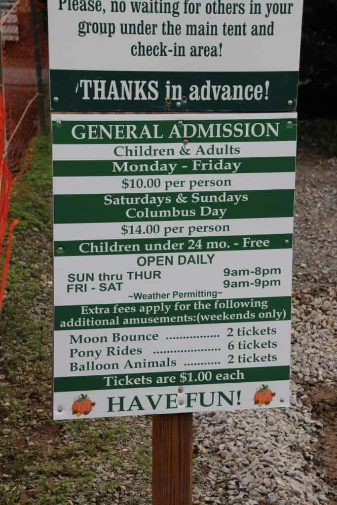 Burke Nursery Pumpkin Playground Virginia Ticket Pricing