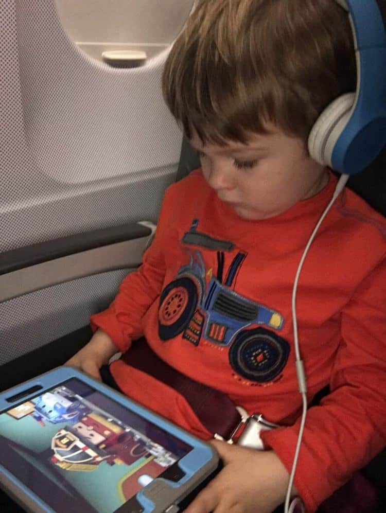 Headphones and Tablet