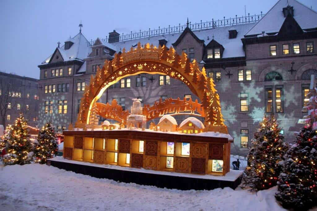 Old Quebec City Christmas Market Advent