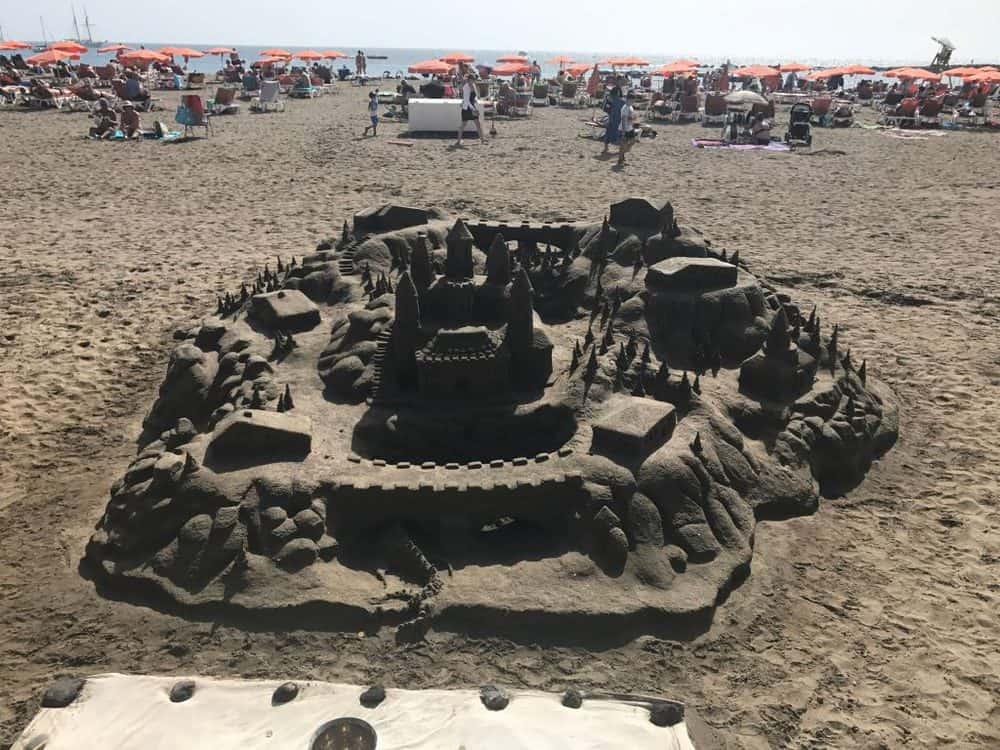 Los Cristianos Beach Sandcastles